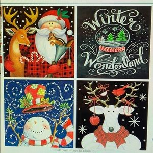 4 pack of Christmas 5D diamond art by number kits